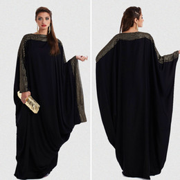 ropa de mujer árabe Rebajas Más el tamaño S ~ 6XL calidad nuevo árabe elegante suelto abaya kaftan islámico moda vestido musulmán ropa de diseño mujeres dubai abaya negro