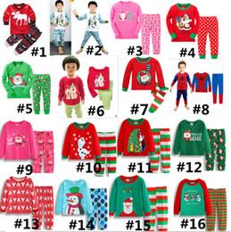 Conjunto de pijamas navideños para niños Navidad santa Elk Ropa de dormir para niños Muñeco de nieve Pijama de dibujos animados en 3D Pantalón de dormir de algodón Súper hombre Hero Bedgown Nuevo desde fabricantes
