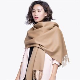 Lenço de lã bege on-line-2017 outono inverno nova mulher 100% cashmere cachecol de lã senhoras cachecóis bege vermelho cinza azul preto