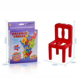 Wholesale puzzle pc game - 18 24 PCS Balance Chair Puzzle Board Game Family Party Best Gift for Children Funny Colorful Game