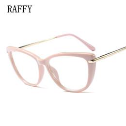 quadros ópticos coloridos atacado Desconto RAFFY Cat Eye Mulheres Óculos de Armação Completa Óculos Vintage Óculos Mulheres Óculos Óculos Brancos Molduras Pretas Perna De Metal Oculos