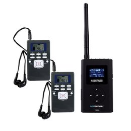 portable transmitter radio Coupons - NIORFNIOWireless Tour Guide System For Guiding Church Meeting Translation 1 FM Transmitter+2 Radio Receiver Portable Radio Y4409