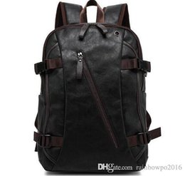 backpack factory Promo Codes - Factory sales brand male package New Retro wind capacity of mens shoulders backpack simple soft leather casual brand bags