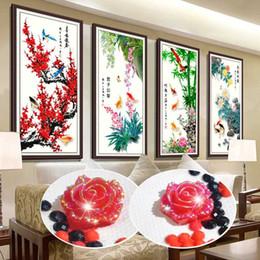 2019 bordado orquídea DIY especial em forma de pintura diamante, diamante bordado, ameixa, orquídea, bambu, crisântemo, pintura com diamantes, 5d pintura diamante novo