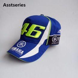 Wholesale 46 Cap - 2017 New Rossi VR46 Baseball Cap MOTO GP 46 Motorcycle 3D Racing Embroidered Cap Men's Women Snapback Caps YAMAHA HATS