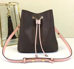 Neue Umhängetaschen mit Leder Eimer Tasche Frauen berühmte Marken Designer Handtaschen hohe Qualität Blumendruck Umhängetasche Geldbörse von Fabrikanten