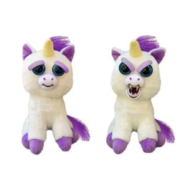 """Wholesale Change Movie - Feisty Pets Plush toys 22cm One Second Change Face Animal Glenda Glitterpoop the Unicorn - Goes from """"Awww"""" to """"Ahhh!"""" with a Squeeze lovely"""