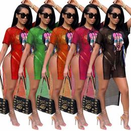 Wholesale women s midi dresses - Women Midi Dress 2018 Womens Summer Dresses Sexy Boho Asymmetrical Print Dress