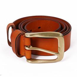Cinturones para hombre de Alta Calidad 2018 Coreano Cinturón Vintage Cuero  Genuino para Jean Streetwear Cintura Amplia Cintura Accesorios de Moda 0ee2e234f3ec