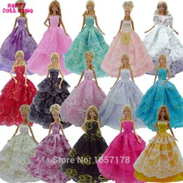 Wholesale Doll Clothes For Barbies - Randomly Pick Dress Princess Gown Wedding Dinner Dancing Party Costume Clothes For Barbie Doll Accessories Dollhouse Kids Gift