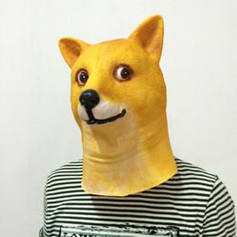 R robes en Ligne-Latex Tête De Chien Masque Mascarade Animal Vizard Masques Halloween Fantaisie Déguisement Prop Vente Chaude 14gq Y R