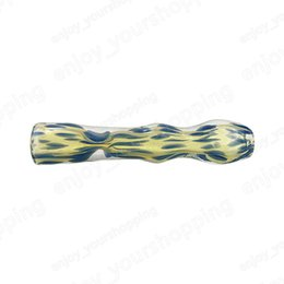 Wholesale fine pipes - Blue glass handmade pipe wholesale price design trendy fashion personality production of fine pipe environmentally friendly and practical