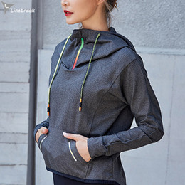 Wholesale Running Windproof Jacket - Wholesale-Women Sports Jackets Long Sleeve Hooded Windproof Running Jacket Training Exercise Breathable Sweatshirts Fitness Tops