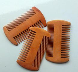 Laser en bois en Ligne-Peigne à barbe gravé au laser - peigne à double face moustache peigne en bois peigne à bois peigne à cheveux