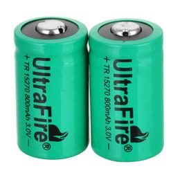 Canada UltraFire 3V CR2 15270 CR2 800mah batterie rechargeable appareil photo numérique fait une batterie spéciale vert Offre