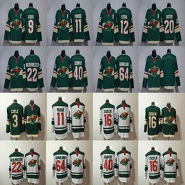 Wholesale Cheap Wild Hockey Jerseys - 2017-2018 Season Minnesota Wild Jersey 11 Zach Parise 22 Nino Niederreiter 40 Devan Dubnyk 64 Mikael Granlund Hockey Jerseys Cheap
