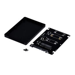 Wholesale Mini Pcie Msata - Wholesale-Hot-sale 10cm x 7cm x 0.7cm Mini pcie mSATA SSD To 2.5 Inch SATA3 Adapter Card With Case Gifts