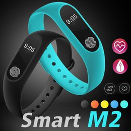Wholesale Blue Green Grass - M2 Smart Bracelet Fitness tracker Smart Watch Heart Rate Monitor Waterproof Smart Bracelet Pedometer Call remind Health Wristband