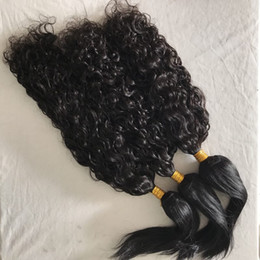 Wholesale double braid - Raw Indian Virgin Hair Weaves Water Wave & Straight Braid in Human Hair Bundles No Tangle FDshine