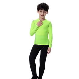 Langarm t-shirt wolle online-Marke Kinder Sport T-shirt Mit Wolle Winter Warme Lange Ärmel Basketball Fußball Laufhemd Tops Atmungsaktive Kinder Sportbekleidung