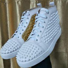 Wholesale Waterproof Walking Shoes Men - Elegant High Top Sneakers Shoes Women,Men Trainers Patent Leather Flats Red Bottom Sneaker Casual Walking Shoes 36-47