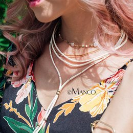 koreanische perlen halskette Rabatt eManco Wholesale Kristallkorne, die Schichtung-Halskette 12 Einzelteile bilden, die koreanische Samt-Brei herauf reizend 2018 Choker-Halskette