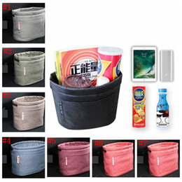 Wholesale Mini Garbage - Hot 7 Colors Oxford Rubbish Organizers Storage Bag Mini Garbage Bin Dust Case Holder Box for Home Car Recycling Containers Bag YYA1076