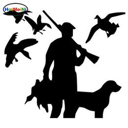 al por mayor perro pegatinas de parachoques Rebajas Venta al por mayor Car Styling Hunter Dog Car Stickers Accesorios de parachoques calcomanía de vinilo impermeable