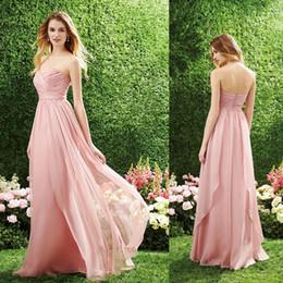 2019 Tamaño personalizado Vestidos de graduación rosa sin tirantes escote plisado gasa largo vestido de dama de honor color personalizado CK299 desde fabricantes