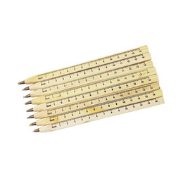Wholesale Wood Rulers - 1pcs lot New handmade wooden Environmental Ruler design Manual DIY Multifunction ballpoint pen ballpen