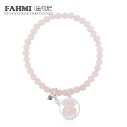 Argentina FAHMI 100% 925 plata esterlina Charm Fashion cuarzo en polvo pulsera de las mujeres 712161640 perla púrpura cristal de circonio en polvo Suministro
