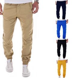 Wholesale Leisure Harem Pants Men - Fashion Leggings Slim Fit Regular Button Fly Mid Pants Men Pure Cotton Color Leisure Haren Pants Mens Trousers