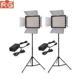 vendita all'ingrosso KIT YN600IIL CRI95 LED Video Light Panel con alimentatore CA regolabile 3200K-5500K e 5500K YN-600L LED Studio Light da