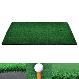 tee pad Coupons - 37x25cm Residential Training Hitting Pad green Nylon Backyard Golf Mat Practice Rubber Tee Holder Drop Shipping