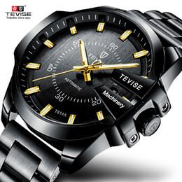 2019 mãos de relógio de aço inoxidável Relógio Homens Tevise 2018 Nova Moda Relógio Mecânico dos homens Relógio Automático de Aço Inoxidável À Prova D 'Água Luminosa Mãos Relógios De Pulso desconto mãos de relógio de aço inoxidável