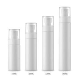 Wholesale liquid plastic spray - 80 100 120 150ml white Fine Mist Spray Bottle Emulsion Liquid Bottle Travel Portable Refillable Empty Lotion Bottles F527