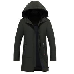 Wholesale Windbreaker Button Down - 2017 Brand New Winter Jacket Men Windbreaker Thick Fleece Hood Parka Coat Men Parka Warm Winter Jacket Big Size M-4XL Down warm