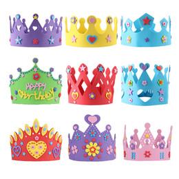 2018 Hat Crafts For Children Quevinal 200 STUCKE EVA Schaum Geburtstag Krone Fur Kinder Birthday