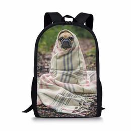 Забавный прекрасный Мопс собака печати рюкзак школьная сумка для девочек-подростков мальчиков студент ортопедические ранец обратно в школу от