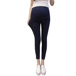 9f4ee553a88c7 High Elastic Waist Ninth Pants For Pregnant Women Nursing Pants Maternity  Clothes Strench Legging Pregnancy Trousers Spring New