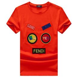 2019 benutzerdefinierte buchstaben zeichen FEND Männer Liebesbrief Tops Logo Luxus Marke Designer männer T-shirt 3XL Großhandel AAAAA Qualität Kurzarm Sommer Tee