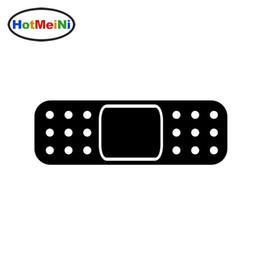 Wholesale Carbon Fiber Adhesive Film - HotMeiNi Wholesale 20pcs lot 14*6 CM JDM Self Adhesive Car Stickers Band Aid Bandage Vinyl Decal Sticker Bumper Door Helmet Drift
