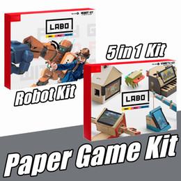 Argentina 5 en1 kit de robot soporte plegable origami labo diy creaciones de cartón kit de juegos de soporte juguetes para ns switch de soporte de arcade de papel Suministro