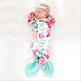 Sacs de couchage manche bébé en Ligne-Sac de couchage pour bébé nouveau-né queue de sirène couverture portable chemise de nuit pour bébé mignon sac de couchage