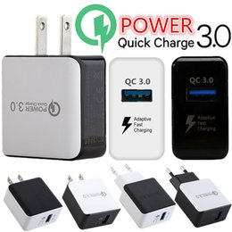 Qc3.0 5 v 3a 9 v 2a 12 v 1.6a rápida rápida adaptável rápida eu nos ac home carregador de parede adaptador de energia para o iphone 7 8 samsung s6 s7 s8 android telefone de