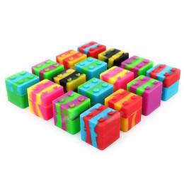 Антипригарные квадратные силиконовые контейнеры FDA силиконовые банки мазки 11 мл силиконовые коробки для воскового контейнера 30mmx30mm курительные аксессуары от Поставщики пластиковые карточные коробки