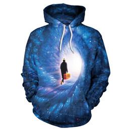 Wholesale Galaxy Print Jackets - Casual Funny Galaxy Sky Sweatshirt Star Printing Autumn Winter Hooded Sweatshirt Men Women Long Sleeve Loose Jacket Tracksuit B101-108