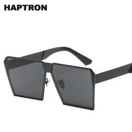 Marche di occhiali da sole hipster online-Occhiali da sole da uomo di marca HAPTRON Moda occhiali da sole quadrati grandi con montatura colorata occhiali da sole hipster colorati Occhiali da sole super grandi