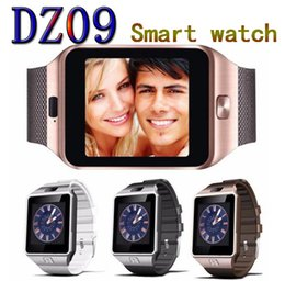 Wholesale Fit French - DZ09 smart watch Android Watches music player SIM Intelligent mobile phone Sleep State Wristband can fit 32G sd card vs GT08 A1 U8