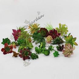 Bonsai di cactus fioriti online-Piante artificiali con vaso Bonsai Tropical Cactus Pianta succulenta finta vaso decorativo per la casa